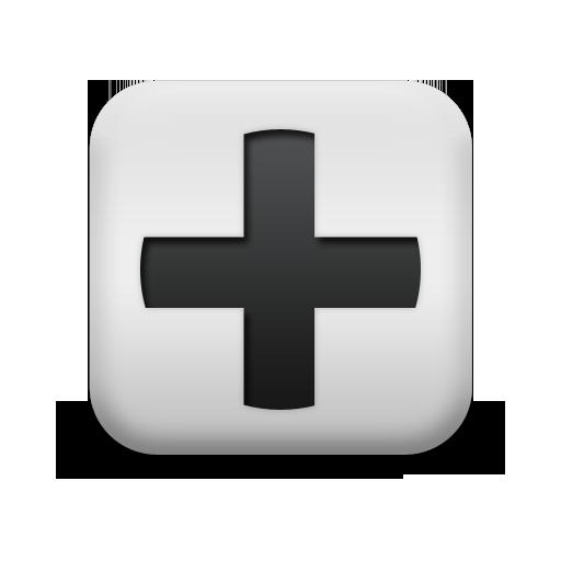 124352-matte-white-square-icon-alphanumeric-plus-sign-simple