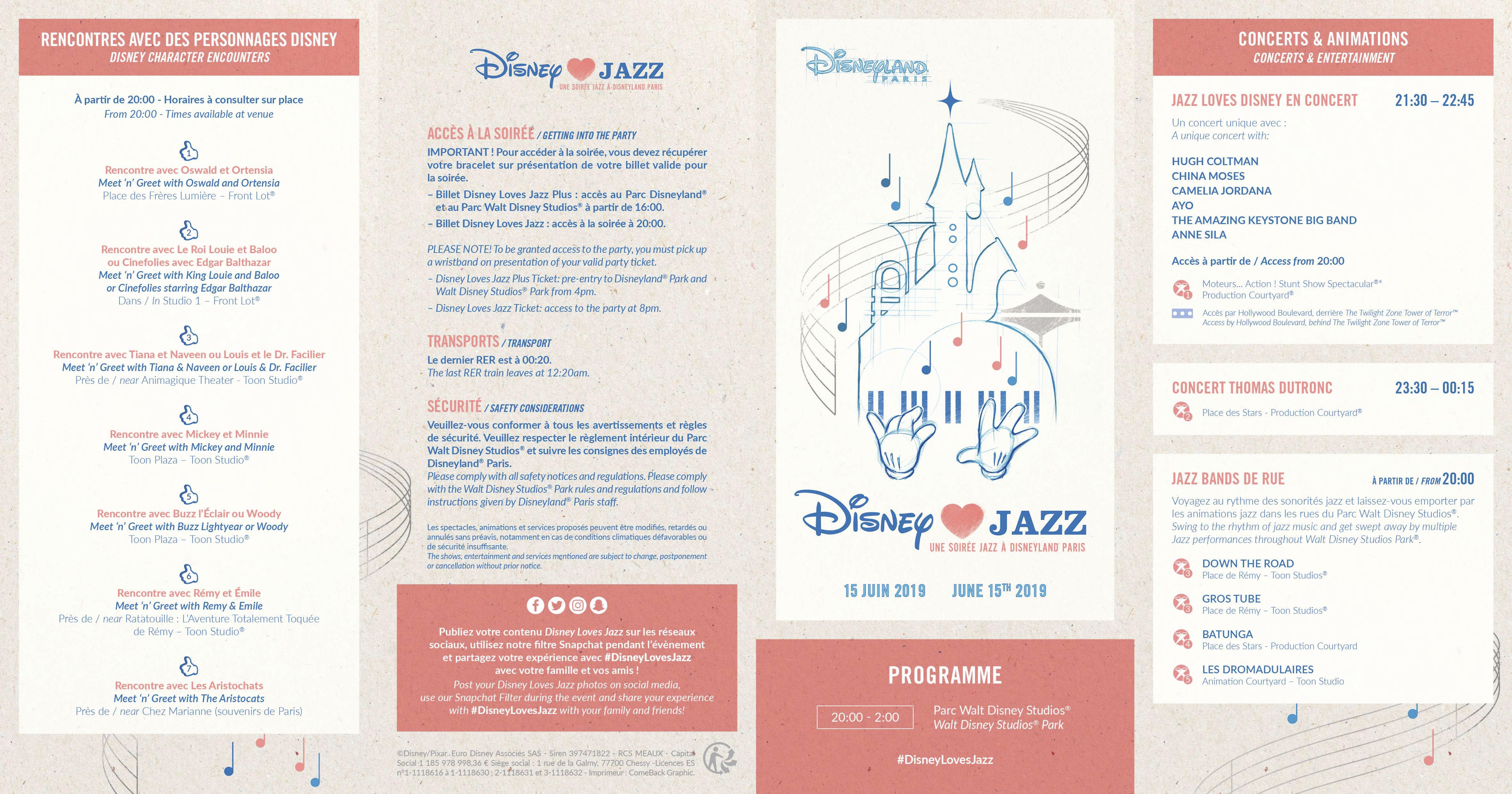 Programme DisneyLoveJazz 2019